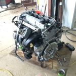 New engine, with spec flywheel